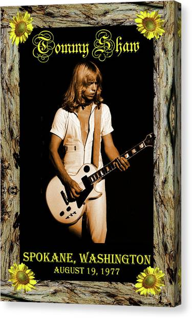 Canvas Print featuring the photograph Styxart In Frame #2 With Text by Ben Upham