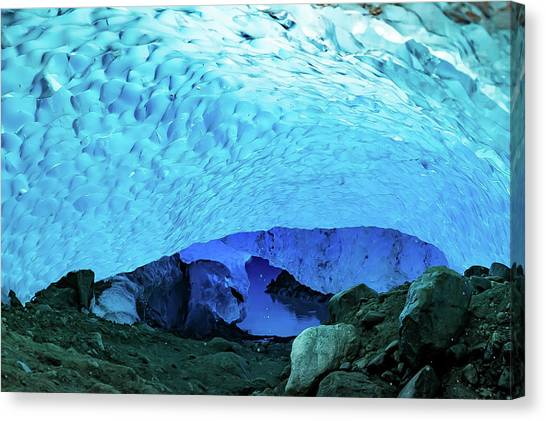 Ice Caves Canvas Print - Subglacial Entre by Ryan Weddle
