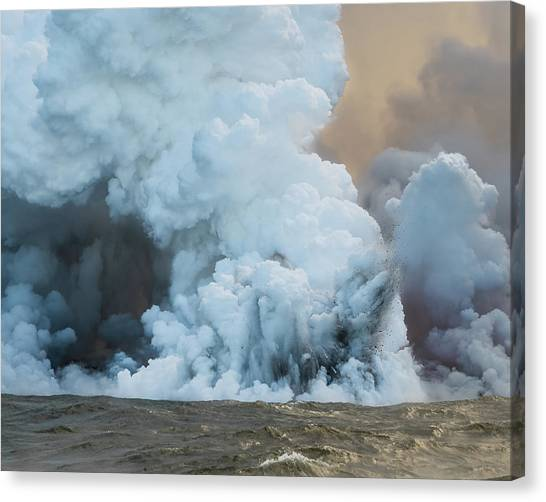 Canvas Print featuring the photograph Submerged Lava Bomb by William Dickman
