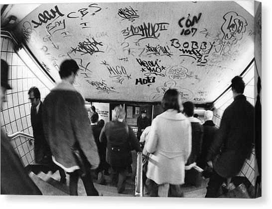 Subway Graffiti Canvas Print by Fred W. McDarrah