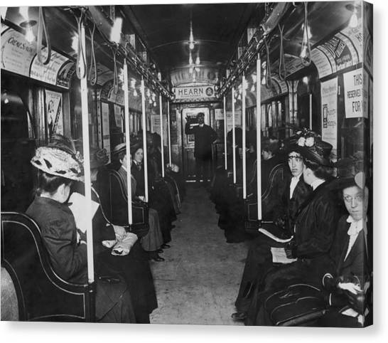 Subway Passengers Canvas Print by Hulton Archive