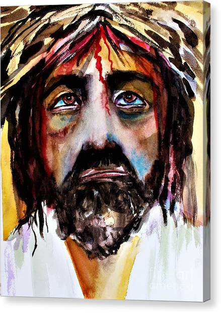 Canvas Print - Suffering Jesus by Mindy Newman