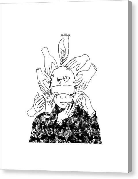 Suga Canvas Print - Suga by Joe Tasha