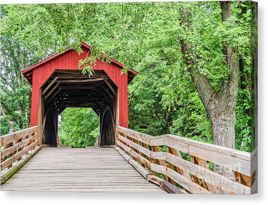 Sugar Creek Covered Bridge Canvas Print
