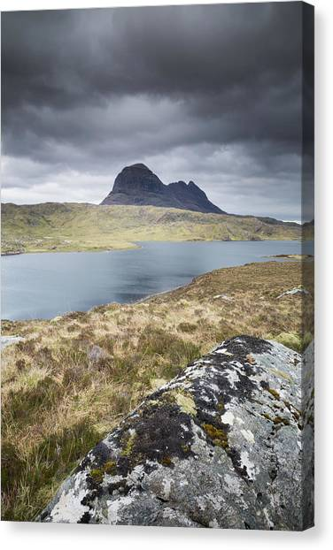 Mountainscape Canvas Print - Suilven On A Stormy Day by Anita Nicholson