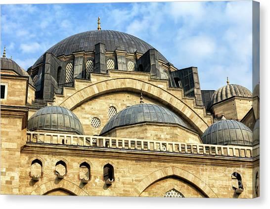 Suleymaniye Canvas Print - Suleymaniye Camii Istanbul by John Rizzuto