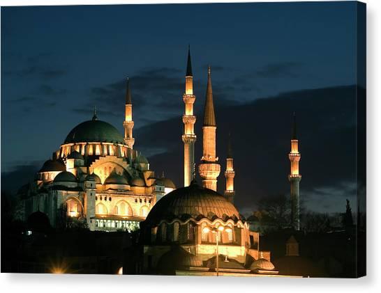 Suleymaniye Canvas Print - Suleymaniye Mosque Istanbul by Lebazele