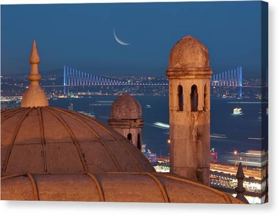 Suleymaniye Canvas Print - Suleymaniye by Salvator Barki
