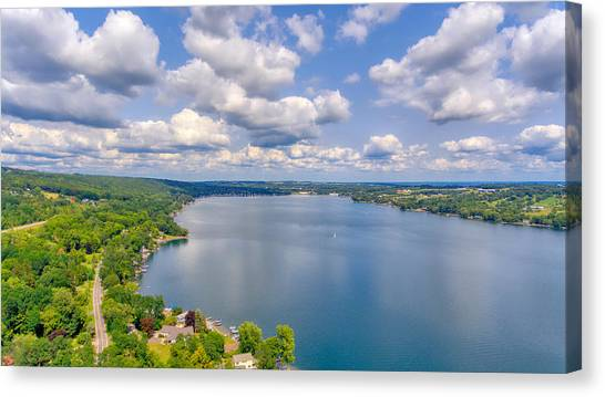 Summer Clouds On Keuka Lake Canvas Print