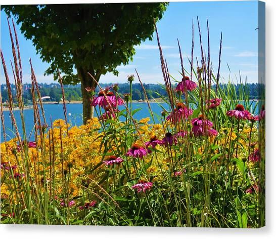 Summer Flowers Vancouver 1 Canvas Print