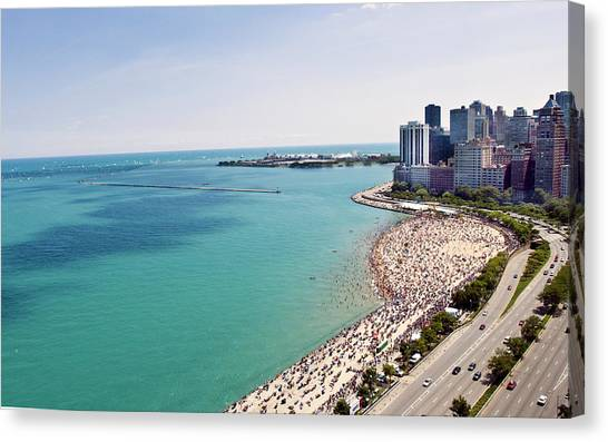 Summer In An Urban Beach Canvas Print