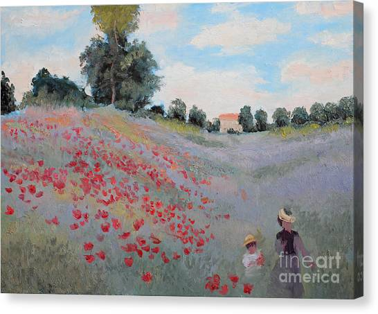 Shadow Canvas Print - Summer Landscape Oil Painting by Erissona