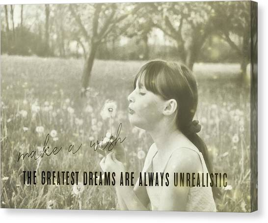 Summer Wish Quote Canvas Print by JAMART Photography