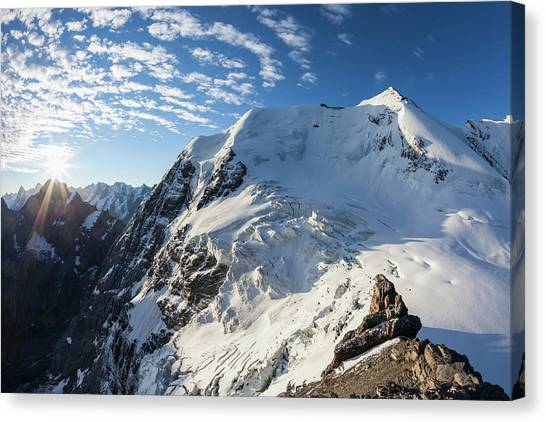 Summit Of Mount Wildi Frau, View To Canvas Print