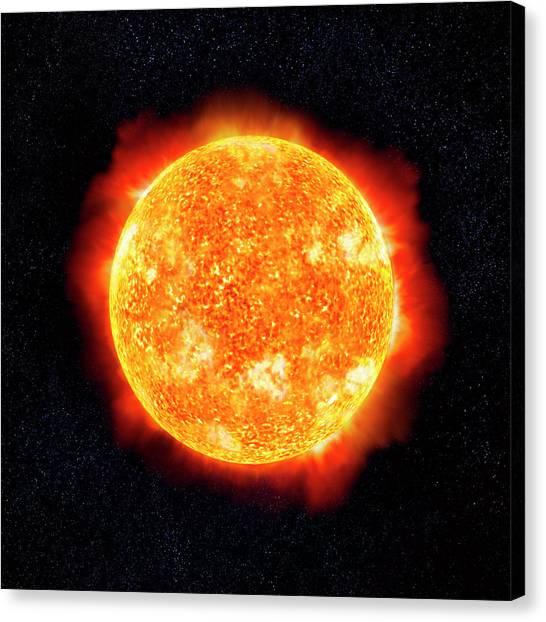 Sun & Stars Canvas Print by Ian Mckinnell