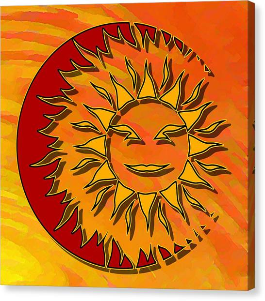 Sun Eclipsing The Moon Canvas Print