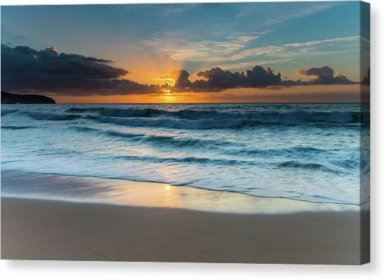 Sun Glow Seascape Canvas Print