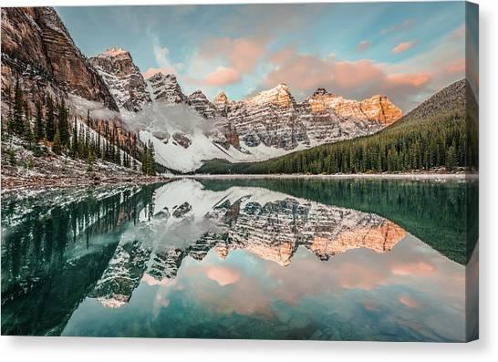 Sun-kissed Peaks Canvas Print