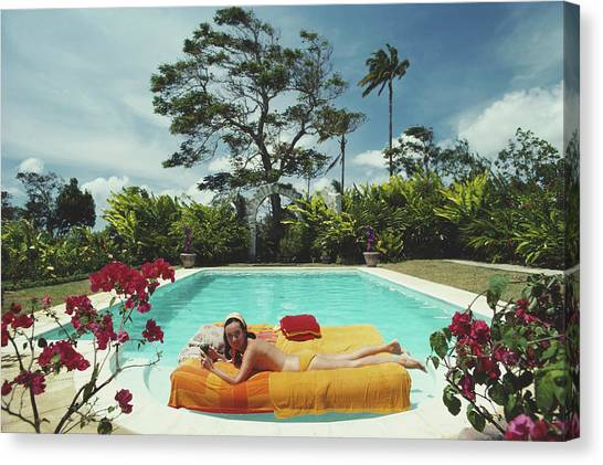 Sunbathing In Barbados Canvas Print