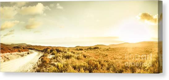 Calm Down Canvas Print - Sundown Bend by Jorgo Photography - Wall Art Gallery