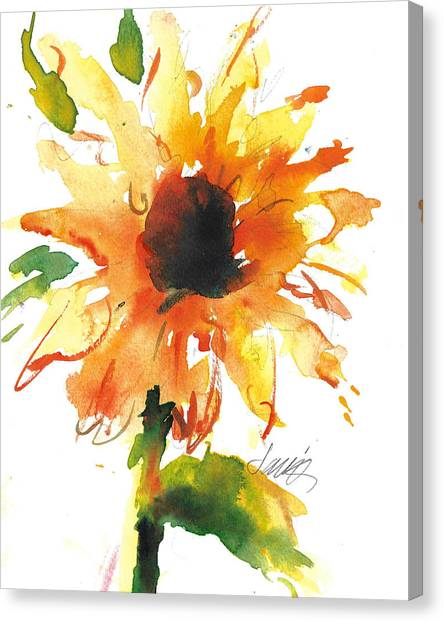 Sunflower Too - A Study Canvas Print