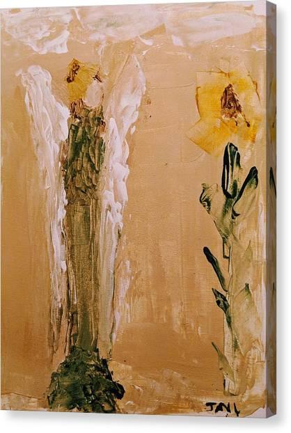 Sunflower Angel Canvas Print