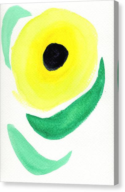 Canvas Print featuring the painting Sunflower by Bee-Bee Deigner
