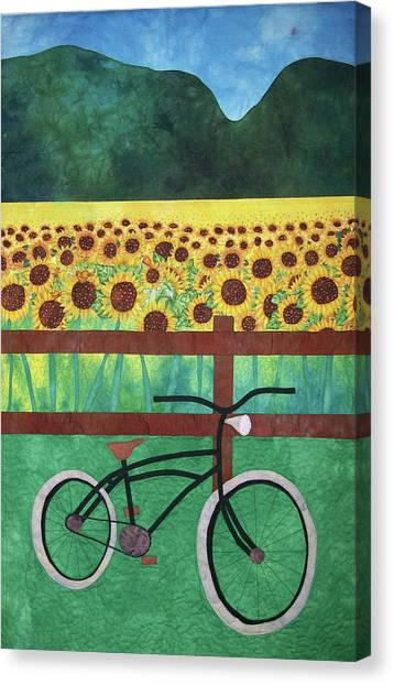 Sunflowers At Whitehall Farm Canvas Print