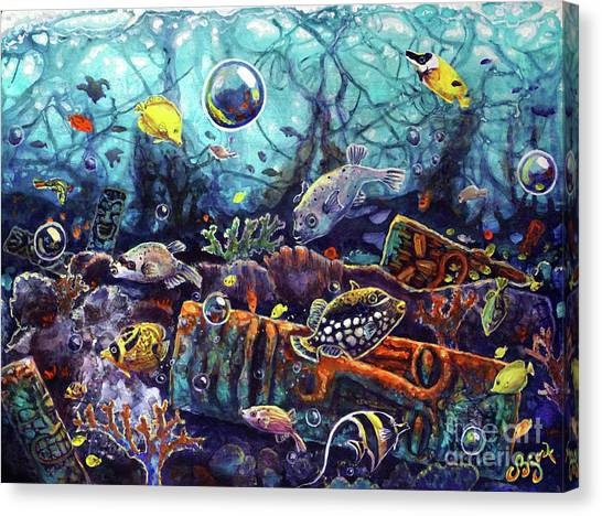 Sunken Tiki Reef Canvas Print