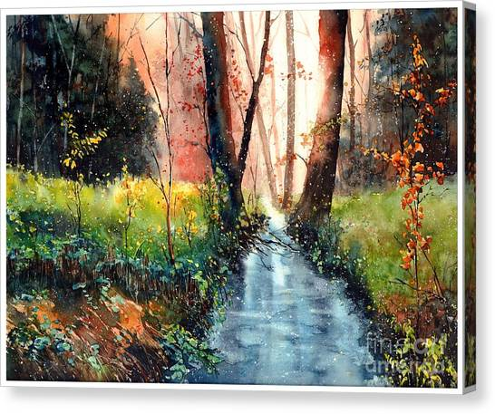 Wild Berries Canvas Print - Sunlight Colorful Path by Suzann's Art