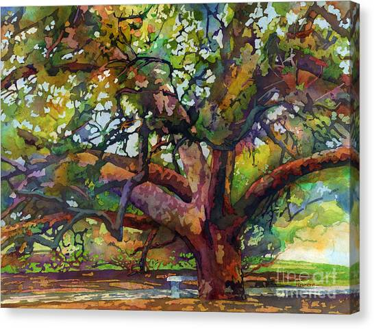 Sunlit Century Tree Canvas Print