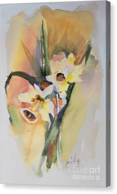 Canvas Print - Sunny Daffodils by Mindy Newman