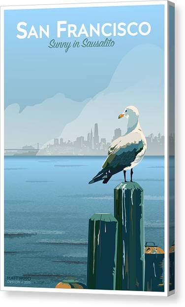 Sunny In Sausalito Canvas Print