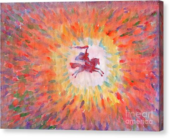 Sunny Rider Canvas Print