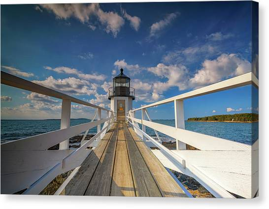 Canvas Print featuring the photograph Sunny Skies At Marshall Point by Rick Berk