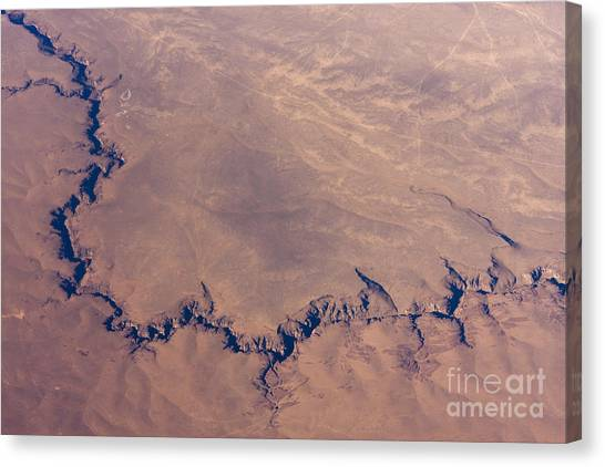 View Canvas Print - Sunrise Aerial Photo Of The Canyons In by Glenn Young