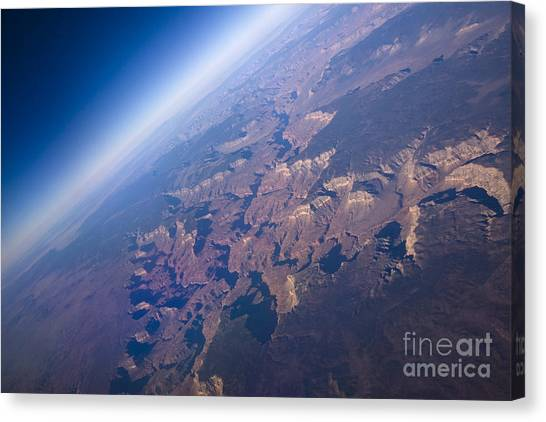 Formation Canvas Print - Sunrise Aerial View Of The Grand Canyon by Glenn Young