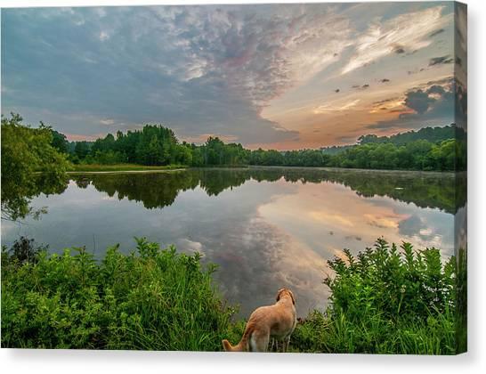 Sunrise At Ross Pond Canvas Print