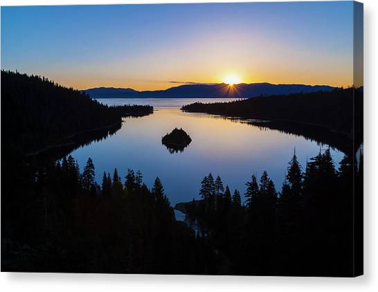 Sunrise, Emerald Bay, Lake Tahoe Canvas Print