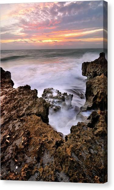 Sunrise In Blowing Rock Preserve Canvas Print