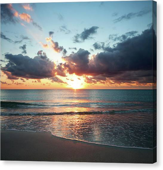 Sunrise In Miami Canvas Print by Tovfla