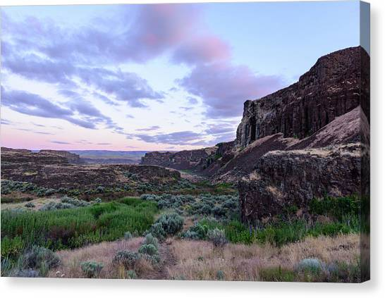 Sunrise In The Ancient Lakes Canvas Print