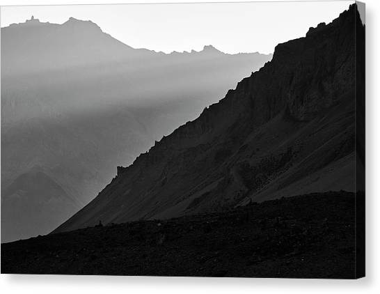 Sunrise In The Himalayas Canvas Print