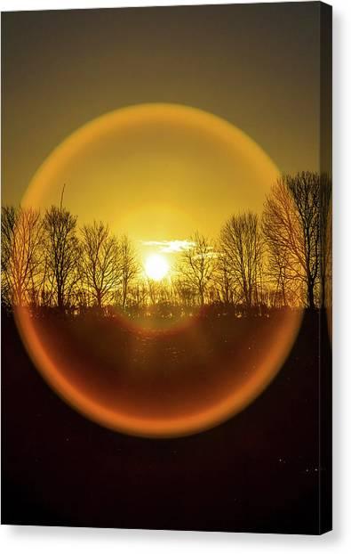 Sunrise. New Years Eve. Canvas Print