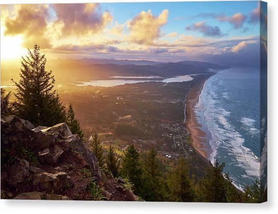 Sunrise On Neahkahnie Canvas Print