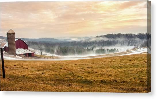 Sunrise On The Farm Canvas Print