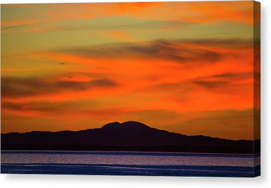 Sunrise Over Santa Monica Bay Canvas Print