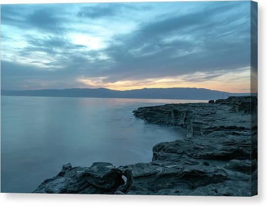 Before Dawn At The Dead Sea Canvas Print