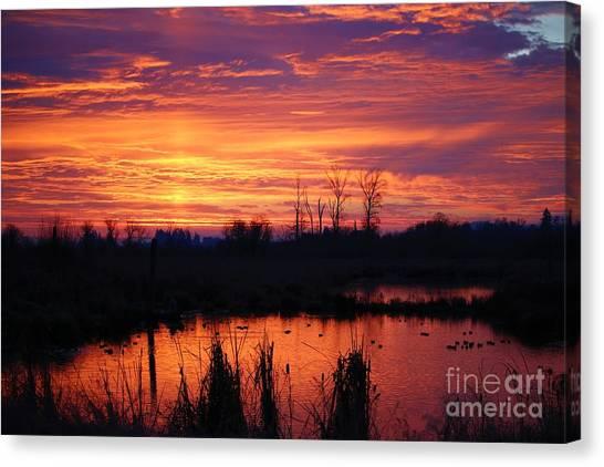 Canvas Print - Sunrise Reflections by Nick Gustafson