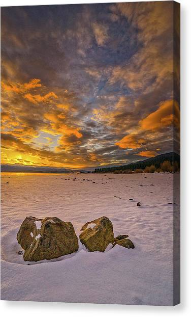 Sunrise Rocks Canvas Print